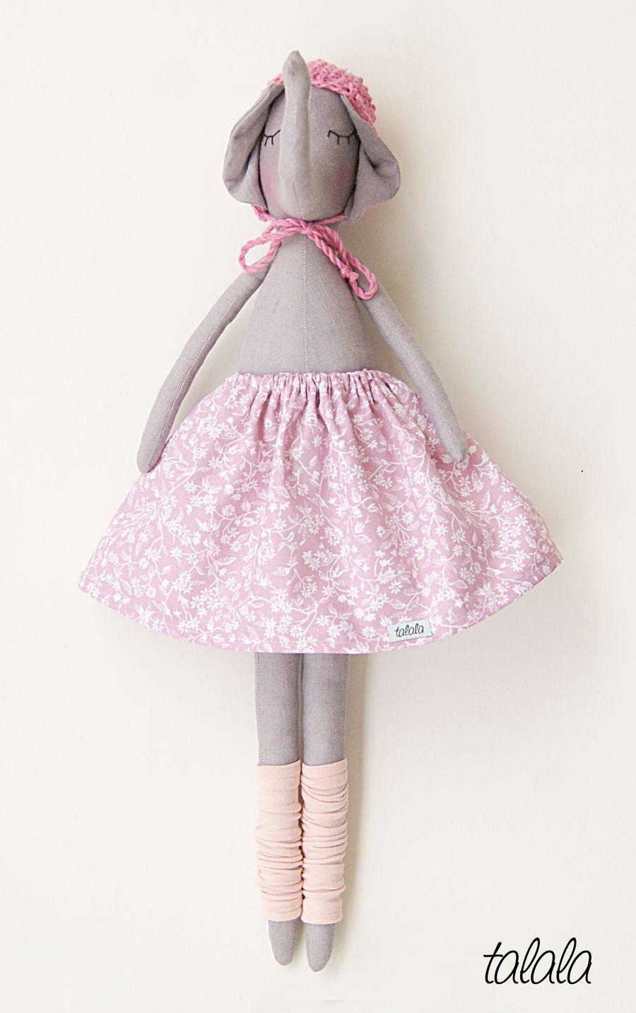 Słonik lalka handmade
