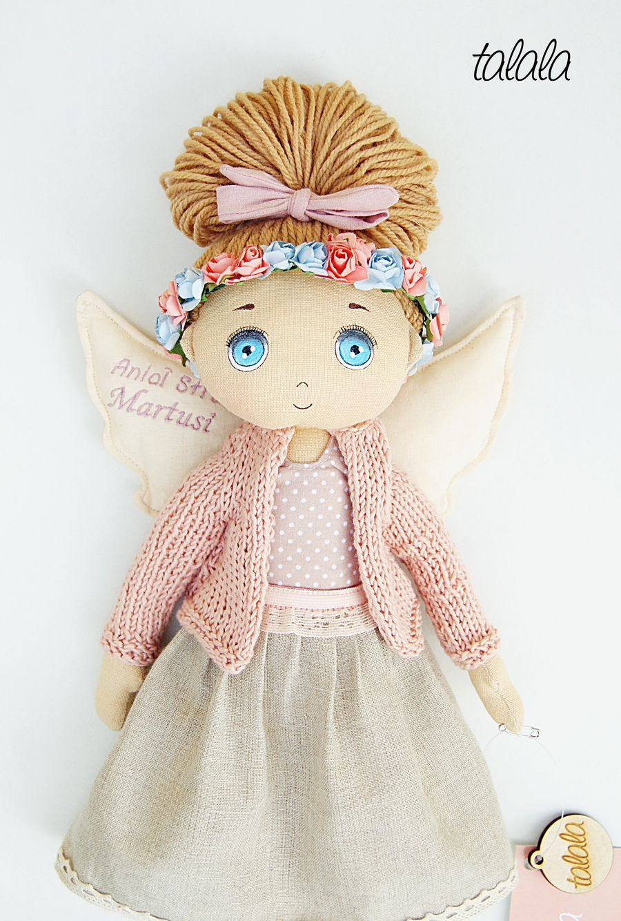 Piękna lalka rękodzieło