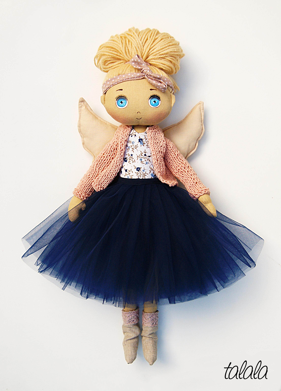 Anioł Stróż lalka malowana