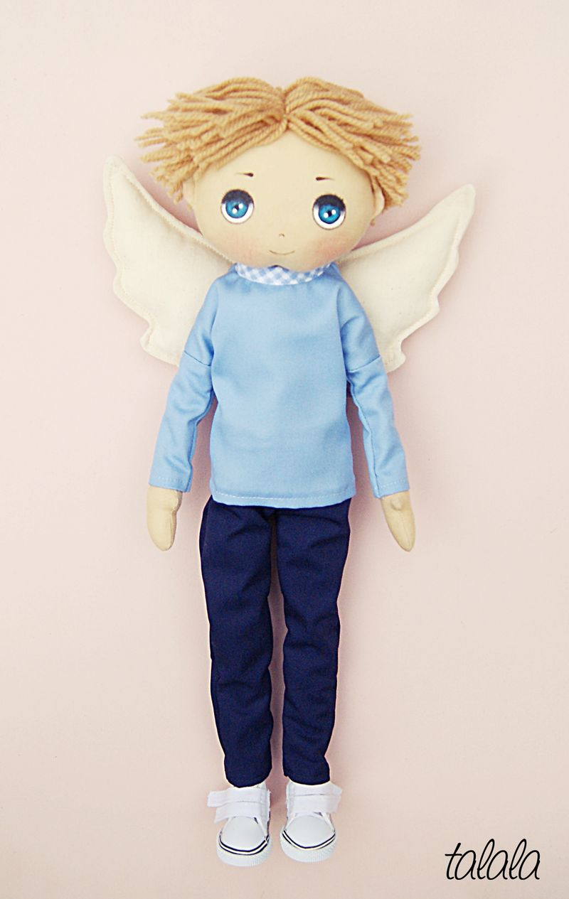 Ręcznie szyte lalki anioły