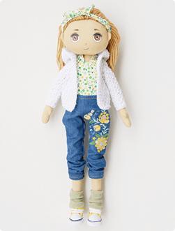 Lalka rozbierana malowana, rozmiar 45 cm