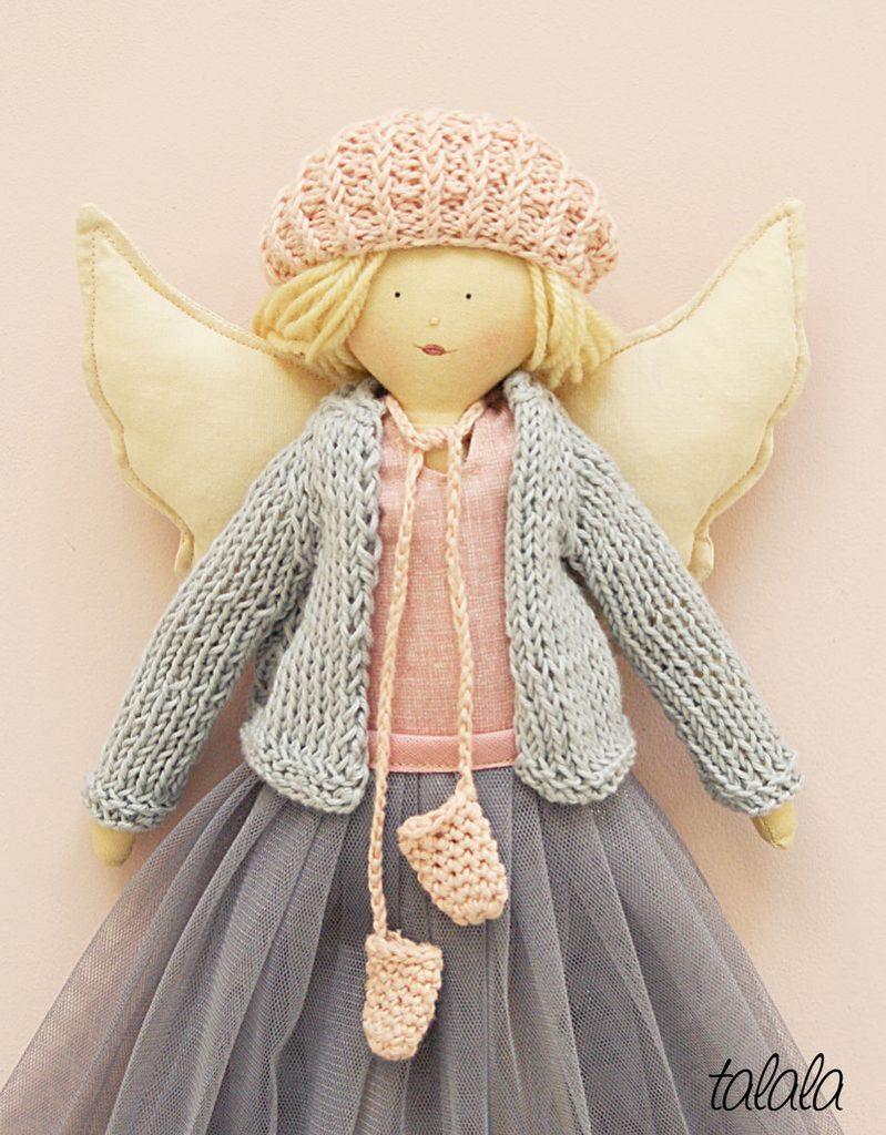 Aniołek lalka ręcznie robiona