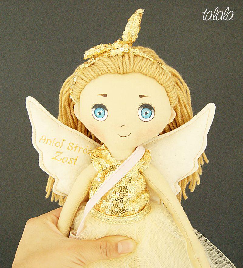 Lalka anioł ręcznie robiona