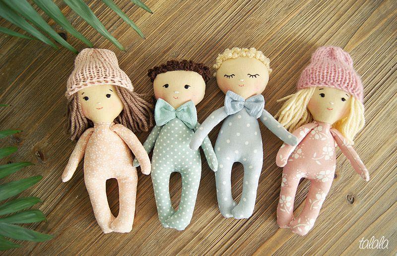 ręcznie szyte małe lalki