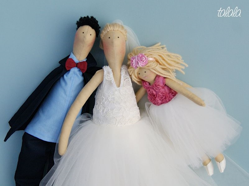 ręcznie szyte lalki ślubne