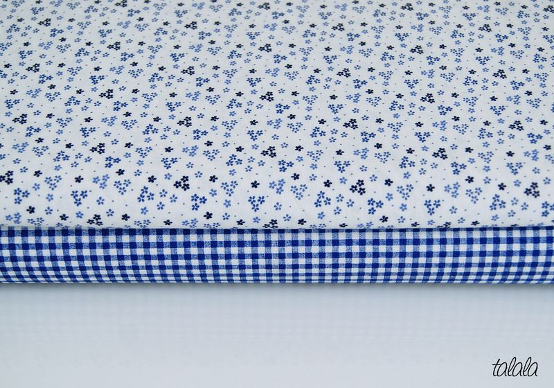 tkaniny niebieskie granatowe