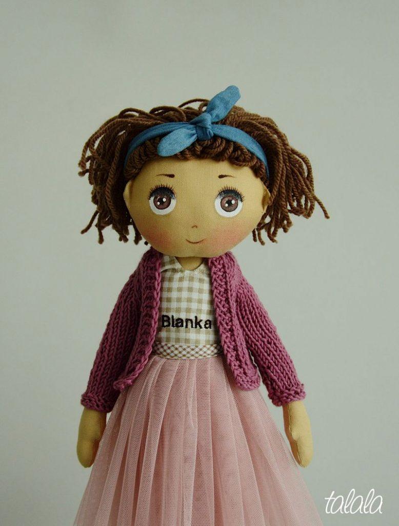 malowana  ręcznie lalka