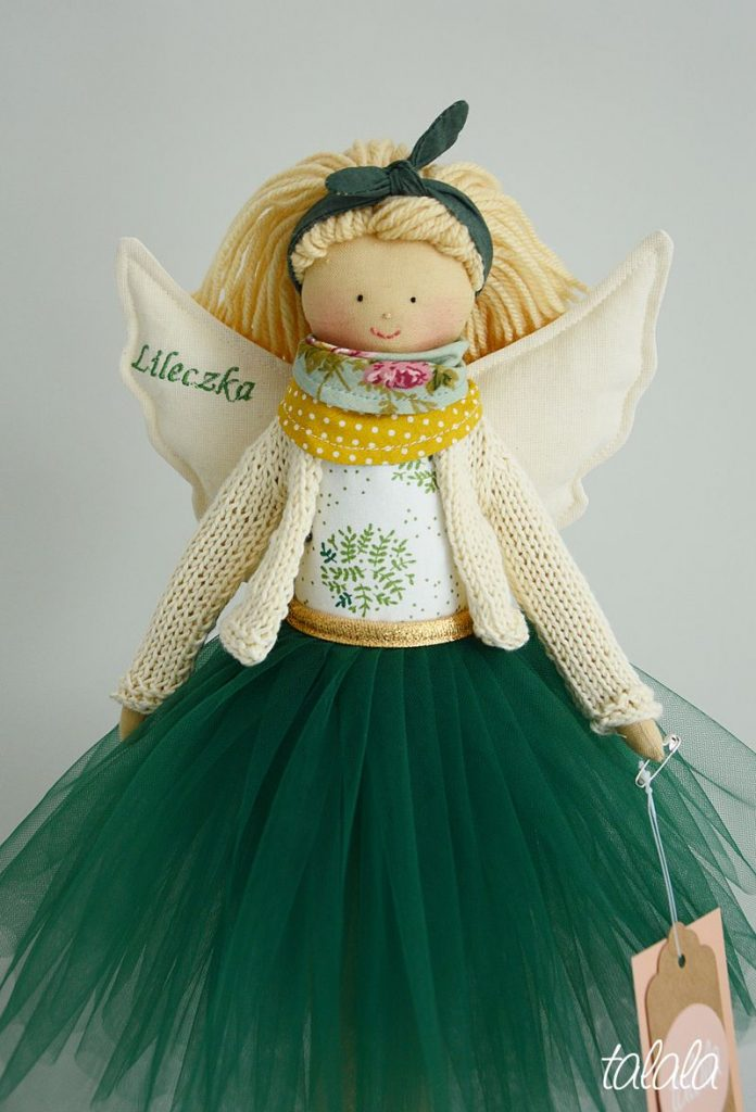ANioł Stróż lalka na Chrzest